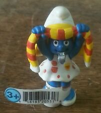 RARE 2003 SMURFS SMURFETTE SOCCER FAN NEW WITH TAG SCHLEICH PEYO MADE IN CHINA
