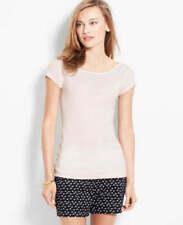 T-shirt, maglie e camicie da donna marrone a fantasia righe in cotone