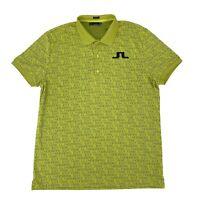 J. Lindeberg Golf Polo Shirt Men's 2XL Short Sleeve All-Over Print Regular Fit