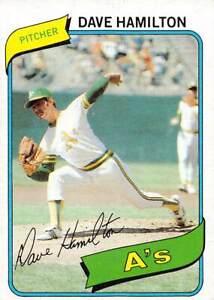 trading card Topps A'S 1980 DAVE HAMILTON  #86
