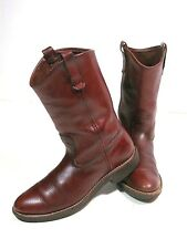 Vintage Eddie Bauer Boots Brown Leather Mens Size 10 - 10.5