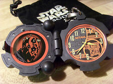 VTG STAR WARS EPISODE I, AOTC: DART MAUL PROBE DROID CLIP ON WATCH, NO BATTERY