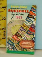 1962 Peek' Size 23rd Annual Football Guide Coca-Cola