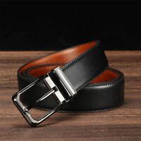 Genuine Leather Casual Dress Belt Men's Pin Buckle Waist Strap Belts Waistband