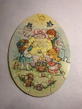 Vintage Springbok Joan Walsh Anglund Egg Shaped Easter Puzzle Rare 1985 Hallmark