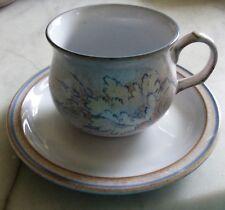 2 x Denby Tasmin  Cups & Saucers Tea