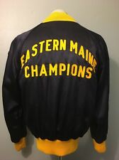 Vtg 40s 50s Blue Satin Baseball Jacket American Legion Athletic Coat Mens L 42