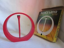 vintage Balance Writer magnetic pen holder red stand retro high tech Italy