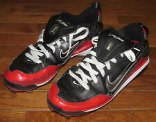 Nike Air Show Elite Men's Football Shoes Metal Cleats Black White & Red Size 10