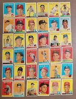 1958 Topps Baseball Cards - Great Vintage Cards - Free Shipping!