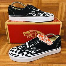 2fe5aa38da  NEW  Vans Authentic Era (Men Size 11) Checkered Flames Skate Shoes Black