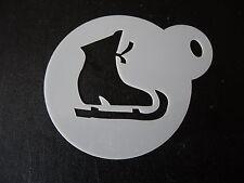 Taglio laser piccoli pattinaggio sul ghiaccio Boot DESIGN CAKE, biscotti e Craft Stencil