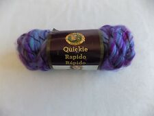 Tangy Quickie Yarn Lion Brand 3 oz Skein 6 Super Bulky 74% Acrylic 22% Wool