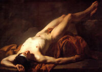 """Dream-art oil painting gay - Jacques-Louis David - Male Nude known as Hector 36"""""""