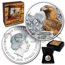 Tasmanian Eagle Silver Colored Coin Tuvalu 2012 Endangered and Extinct Series