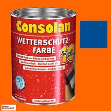 Consolan Wetterschutzfarbe Holzschutzfarbe Deckfarbe 2,5 Liter blau Neuware Neu