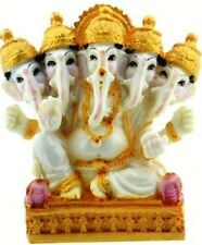 Lord Ganesh The Elephant god statue with 5 heads figure in PolyResin