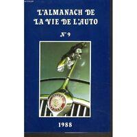 l'almanach 1988 de la vie de l auto n°9 comme neuf