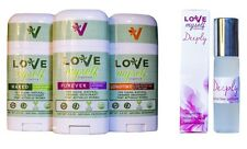 Bundle of 3 Deodorant 10ml Perfume Love Myself Organics Forever Longtime & Naked