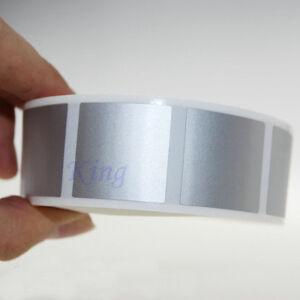 Scratch Off Sticker 1000Pcs 25*25mm Square Silver Color