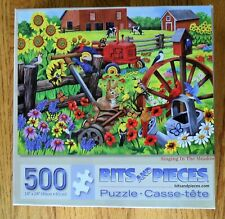 """Singing in the Meadow Bits & Pieces Jigsaw Puzzle 500 Pc  Complete 18"""" x 24"""""""