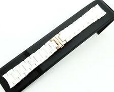 WHITE Rubber/Steel STRAP BAND BRACELET For Emporio Armani Watch AR5920 20mm
