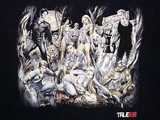 True Blood Vampire TV Show Sexy Pinup Pin-up Black T Shirt XL