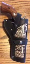 NOS Barsony Black Leather Python Snakeskin Single Action Gun Holster