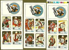 1992-93 Kraft Cheese NHL All-Stars Proof Panels, Gretzky, Roy... Mint, Complete