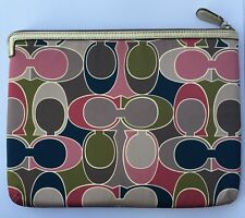 COACH 61792 GALLERY SCARF PRINT MULTICOLOR TABLET SLEEVE IPAD COVER CASE SLEEVE