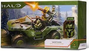 Halo Deluxe Warthog Vehicle and Master Chief Action Figure Set