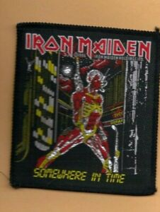 Iron Maiden Somewhere In Time vintage 1980s SEW ON PATCH