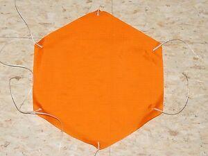 "Rip Stop Nylon Parachute 18"" Orange"