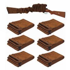 "6X Gun Sock 54"" RIFLE SHOTGUN Storage Case Silicone Treated Sleeve Hunting Brown"