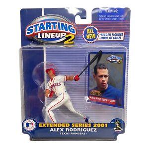 Hasbro Starting Lineup 2 Alex Rodriguez 2001 Figure Baseball Texas Rangers Ext.