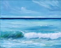 Ocean Painting California Seascape Original Art Canvas 16 by 20In By Chernetsova