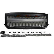 Mattle Black silverado grill emblem with 3 LightingFor Chevrolet 1500 2016-2018