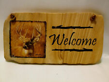 Buck(Deer) Welcome Stone Expressions Impressions-Thirstystone Hanging Plaque