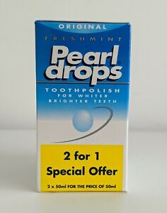 2 x 50ml Pearl Drops Whitening Toothpolish/ Toothpaste