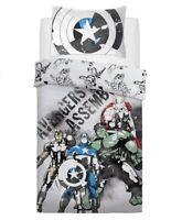 Disney Avengers Watercolour Panel Single Bed Duvet Quilt Cover Set Brand New