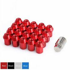 20 Red Spline Lug Nuts M12x1.25 Cone Seat 35mm with Lock Key for Nissan Infiniti