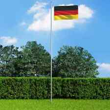 More details for vidaxl germany flag and pole aluminium 6.2m outdoor pole halyard pole kit