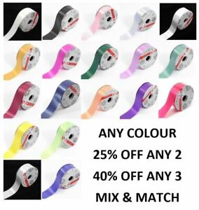 """Poly Florist Ribbon 50mm 2"""" Wide Wedding Car Gift Decoration Any Colour + Length"""
