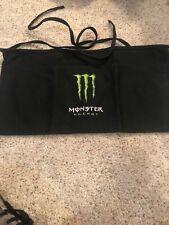 New listing Monster Energy Drink 3 Pocket Half Apron 3 Waist Pockets Logo Graphic Black