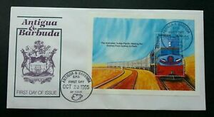 [SJ] Antigua and Barbuda Train 1995 Locomotive Railway Transport Vehicle (FDC)