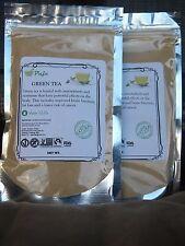 GREEN TEA powder 8oz 1/2lb, water soluble, stress relief, MATCHA, KOMBUCHA PAJE