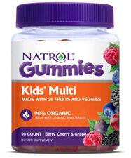 Natrol Gummies Kids' Multi Berry, Cherry & Grape Dietary Supplement 90 Count