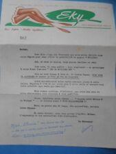Vieux Papiers : Publicité EKY - Bas Nylon Maille Equilibrée - Paris