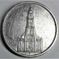 5,- Reichsmark 1935 A Silber Garnisonkirche o Datum & Adler vz/ xf & Kapsel