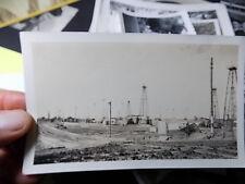 VINT SNAPSHOT PHOTO, OIL WELL FIELD NEAR GARBER, OKLAHOMA